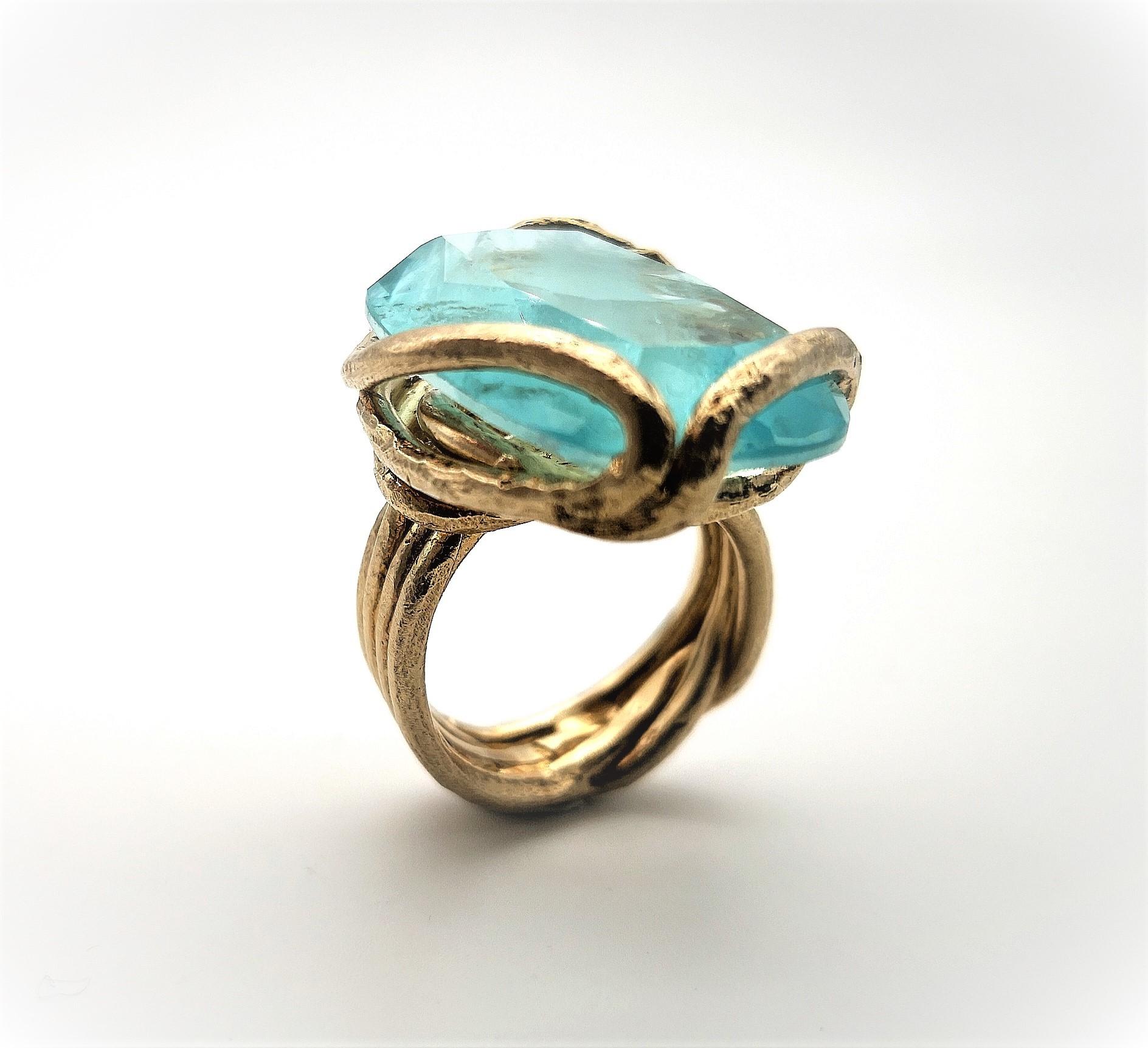 Anello Argento e cristallo -disponibile su ordinazione-
